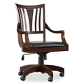 Contemporary Bonded Leather Task Chair , 55003