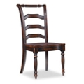 Traditional Armless Chair with Fluted Front Legs , 55083