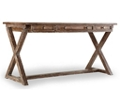 """X-Base Writing Desk with Bonded Leather Inlay Top - 60""""W, 10590"""