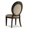 Mediterranean Armless Oval Back Chair in Fabric, 55085