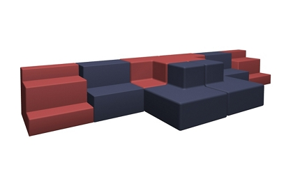 Eight Piece Collaborative Seating Set, 53656
