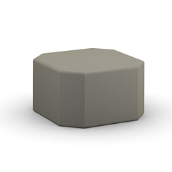 """Fabric or Faux Leather Octagonal Ottoman - 32""""W , 76555"""