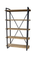 "5 Level Shelf Natural Bookcase- 78""H, 33085"