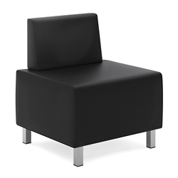 Armless Chair in Bonded Leather, 76497