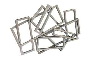 Metal Rectangles Wall Art, 92267