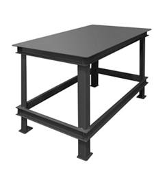 "Industrial Machine Table with 14000 lb Weight Capacity - 72""W x 36""D, 42004"
