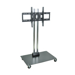 "Adjustable Height Mobile Flat Panel TV Stand - 65"" H, 43249"