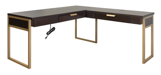 "Metal Frame L-Desk - 64""W, 83090"