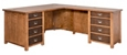 "Double Pedestal L-Desk - 65""W"