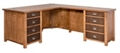 "Double Pedestal L-Desk - 65""W, 14997"