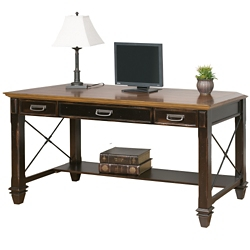 "Two-Tone Writing Desk - 60""W, 14063"
