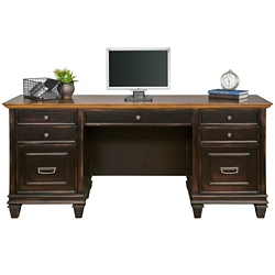 "Two-Tone Double Pedestal Credenza - 69.5""W, 14061"