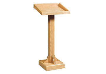 "Raised Base Wood Lectern - 45""H, 82934"