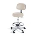 Vinyl Lab Stool with D Handle Release, 25933