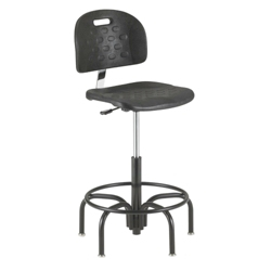 Molded Urethane Lab Stool with Spider Base, 25935