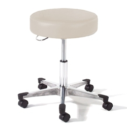 Physician Exam Stool with D Handle Release and Aluminum Base, 25940