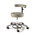 Physician Exam Stool with Crescent Back and Aluminum Base , 26163