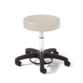 Physician Exam Stool with Foot Control and Black Composite Base, 26164