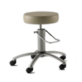 Polished Aluminum Base Surgical Stool with Rotation Lock, 26168