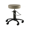 Black Aluminum Base Surgical Stool with Rotation Lock, 26170