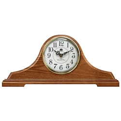 "Oak Tambour Mantel Clock - 17""W, 82363"