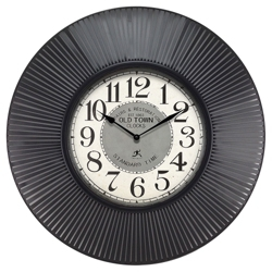 "Old Town 31.5"" Ribbed Frame Wall Clock, 91276"