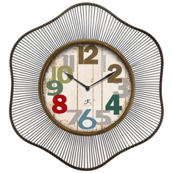 "Lace 31.5"" Wire Frame Wall Clock, 91277"
