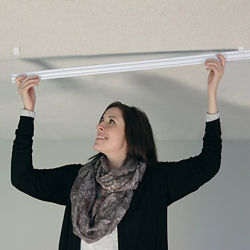 """16' Track for Drywall Ceiling - For 17'6""""W Curtain, 26477"""