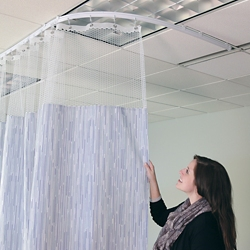 """Patterned Print Privacy Curtain - 8'5""""W x 7'2""""H, 25685"""