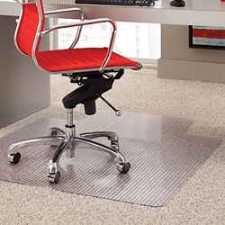 "Crystal Clear Chair Mat With Lip for Carpets 36""W x 48""D, 82884"