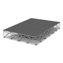 "Rectangular Carpeted Stage Set - 12'W x 16""H, 86352"