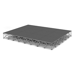 Rectangular Carpeted Stage Set - 12'W x 16'H, 86356