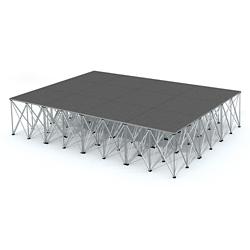 Rectangular Carpeted Stage Set - 12'W x 32'H, 86358