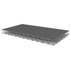 Rectangular Carpeted Stage Set - 12'W x 16'H, 86360