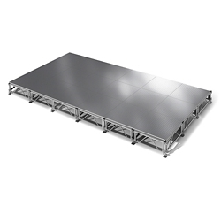 "All Terrain Aluminum Stage Set - 12'W x 24""D, 86409"