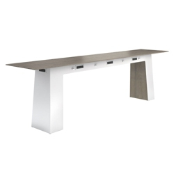 """Powered Standing Height Conference Table - 144""""W x 30""""D, 41765"""