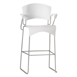 Sled Base Plastic Stool with Arms, 50871