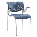 Modern Plastic Guest Chair with Arms, 50878