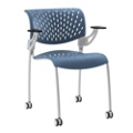 Modern Plastic Guest Chair with Casters, 50880