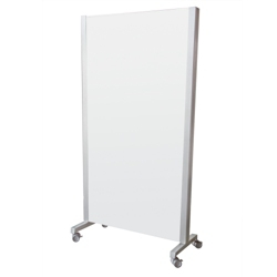 """40""""W x 75""""H Dual Sided Mobile Whiteboard , 80548"""