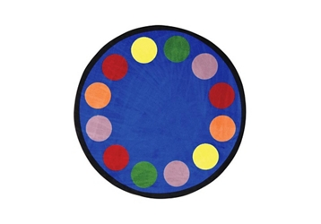 "Lots of Dots Round Rug 91"" Diameter, 92667"