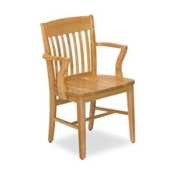 Rustic Wood Chair with Arms, 57047