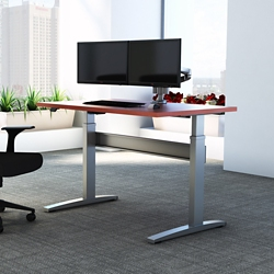 "Electric Height Adjustable Desk - 60""W x 24""D, 10218"
