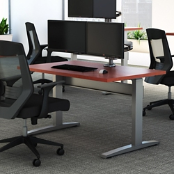 "Electric Height Adjustable Desk - 60""W x 30""D, 10222"