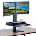 Height Adjustable Double Monitor Platform, 60006