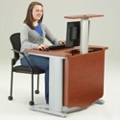 """48"""" Wide Desk with Monitor Lift, 60953"""