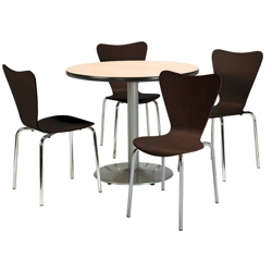 """Round Pedestal Table and Bentwood Chair Set - 36"""" Diameter, 41750"""