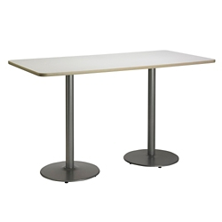 "Bar Height Two-Pedestal Table with Round Base - 72""W x 30""D, 41944"