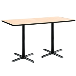 "Bar Height Two-Pedestal Table with X-Base - 72""W x 36""D, 41950"