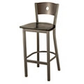 Wood Barstool with Circular Cut-Out, 44703
